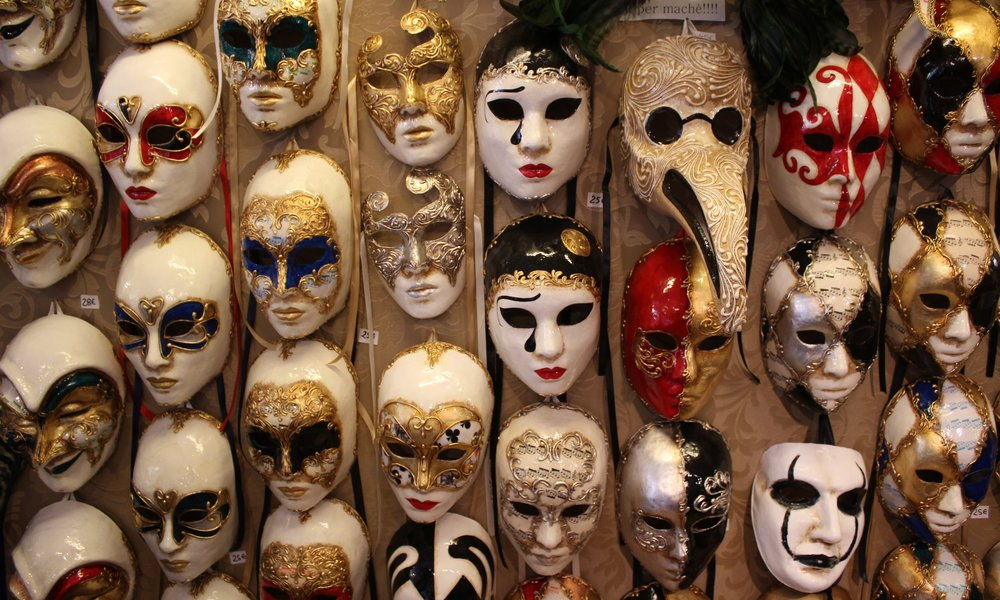 Carnivale masks in the Dorsoduro, Venice