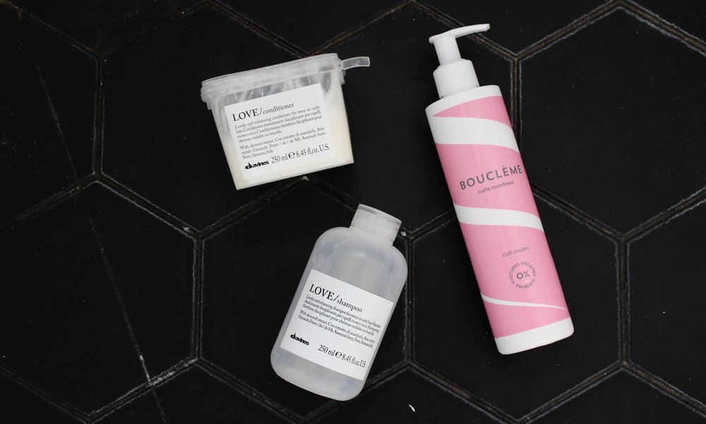 Davines Love range and Boucleme Curl Cream
