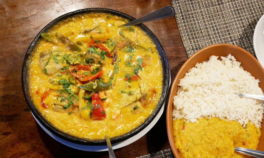Delicious moqueca, a traditional Bahian dish