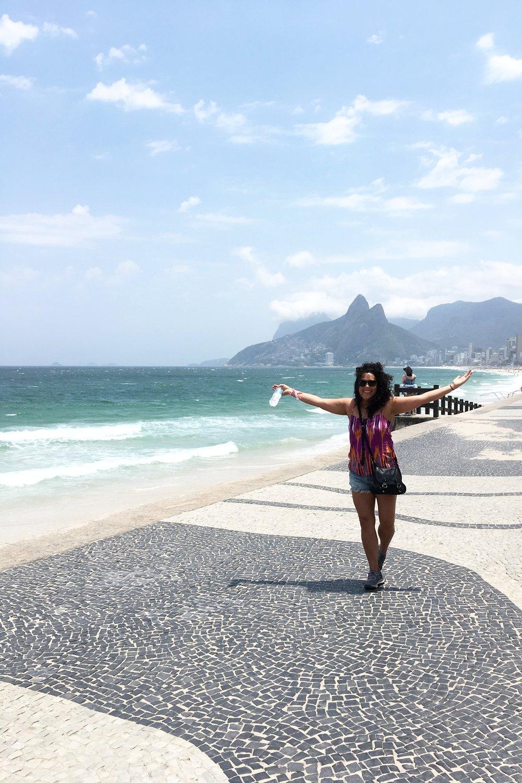 On Ipanema beach