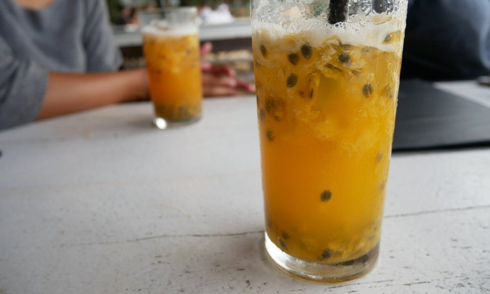 Passionfruit caipirinha - my absolute favourite drink in Brazil