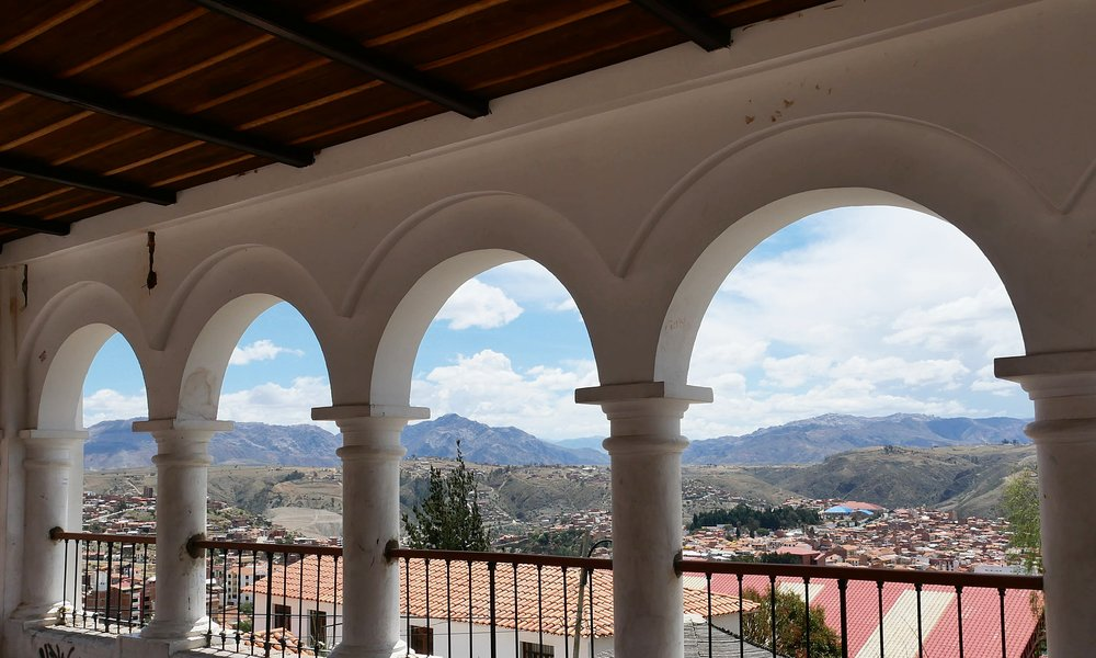 Views at the Mirador, overlooking the city of Sucre
