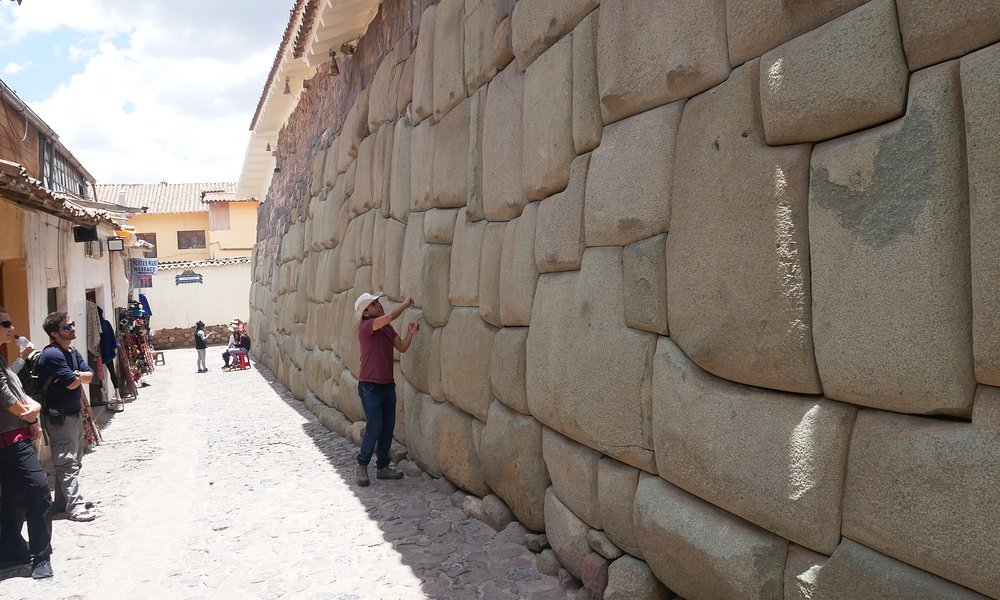 Incan stonework on the Free Walking Tour through Cusco