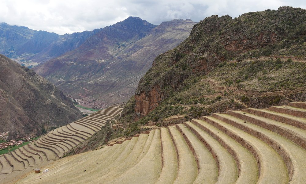 The famous Incan terraces of Pisaq