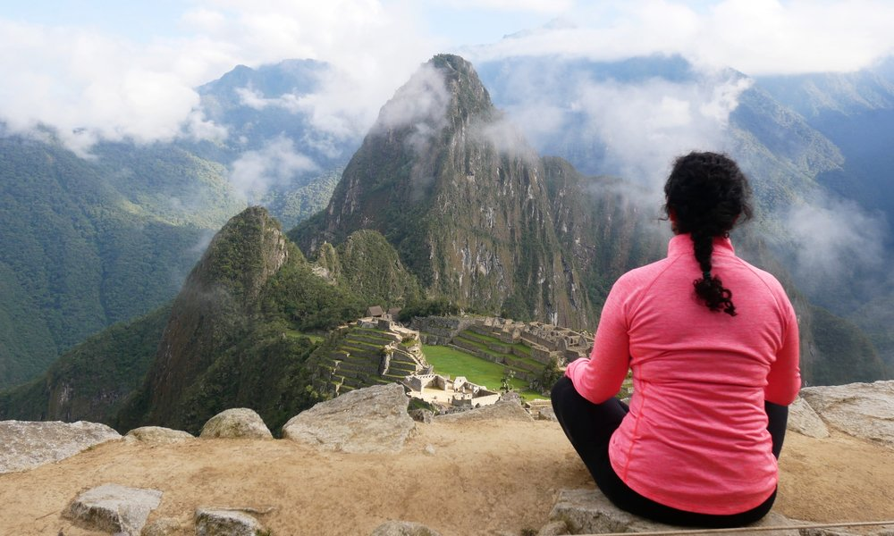 Getting my zen on at Machu Picchu mountain
