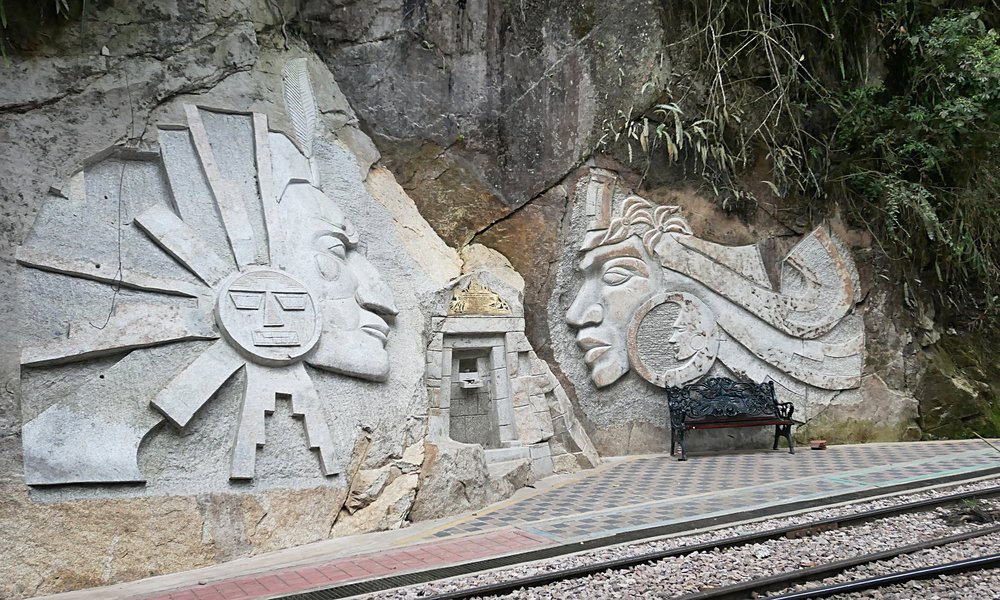 Inka art upon arrival to Machu Picchu Town