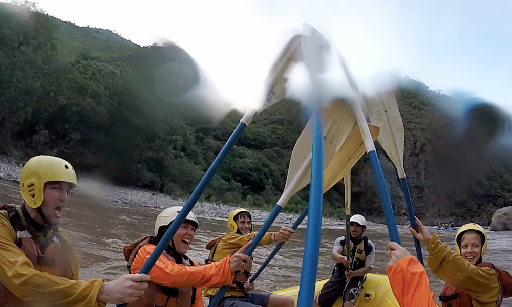 Our white-water rafting crew salute