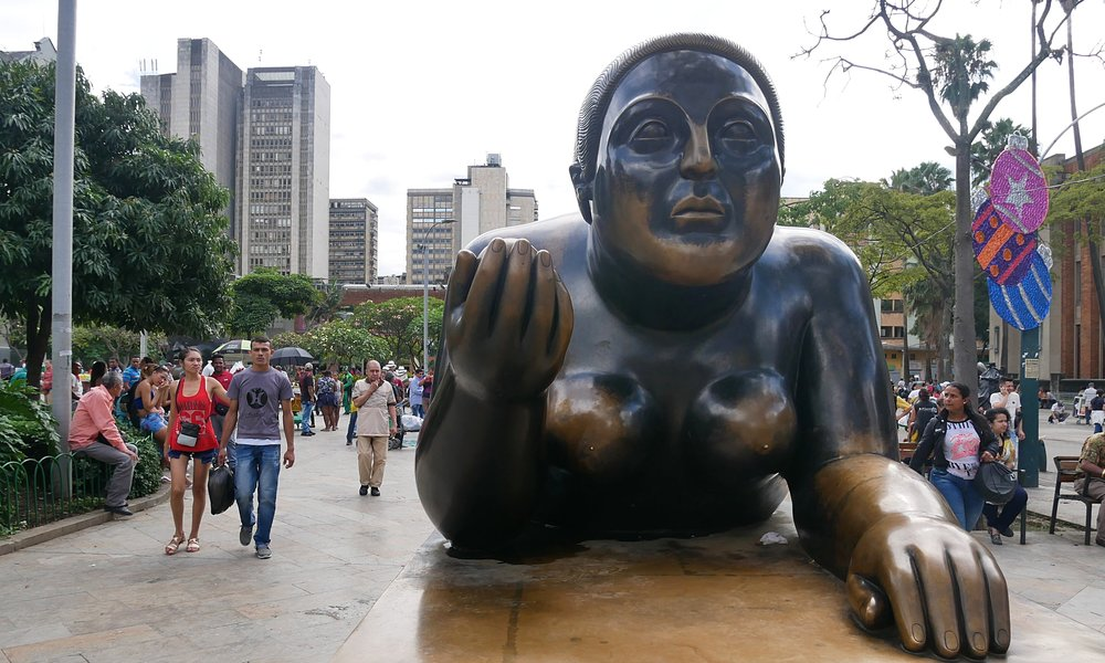 Sculpture in Plaza Botero