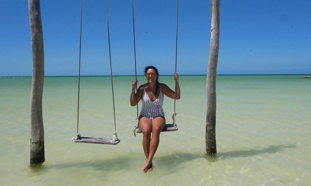 The beautiful swings of Holbox Dream