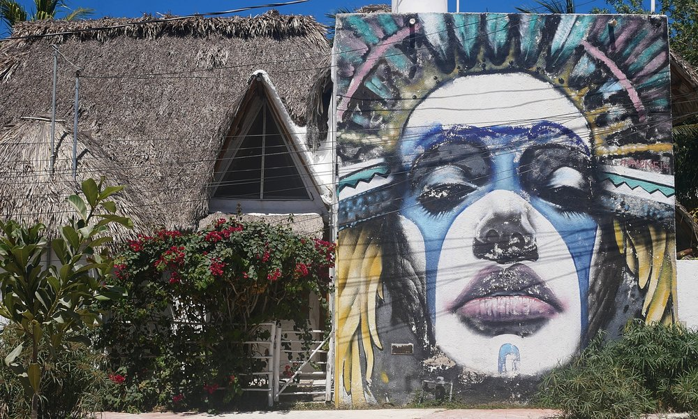 Some of Holbox's killer street art