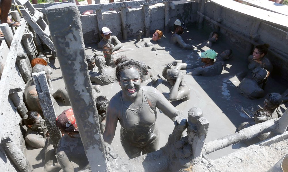 cartagena mud volcano in totumo colombia therapeutic mud