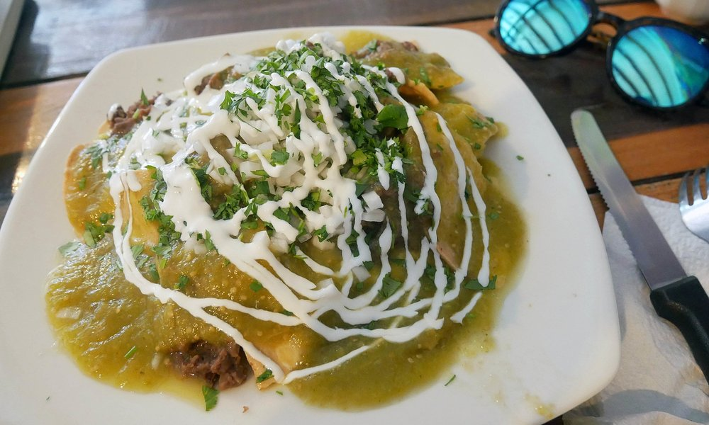 La Tortillera's delicious Chilaquiles