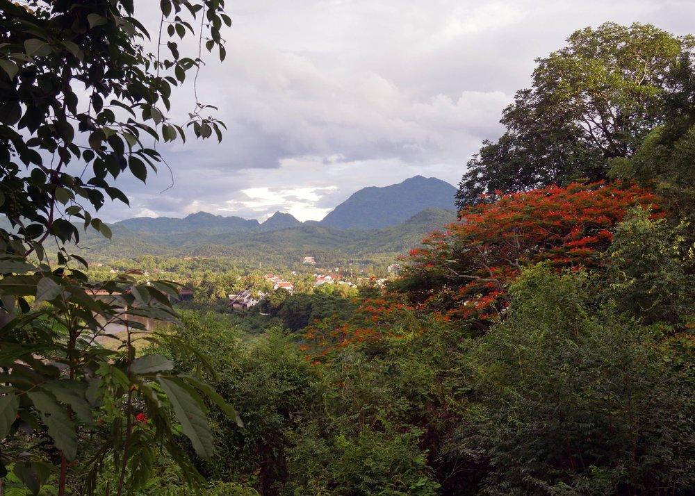 Stunning views of Luang Prabang