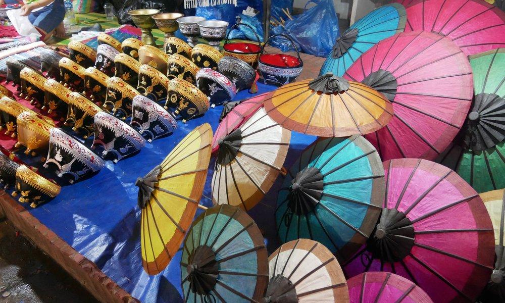 Paper umbrellas at the Night Market