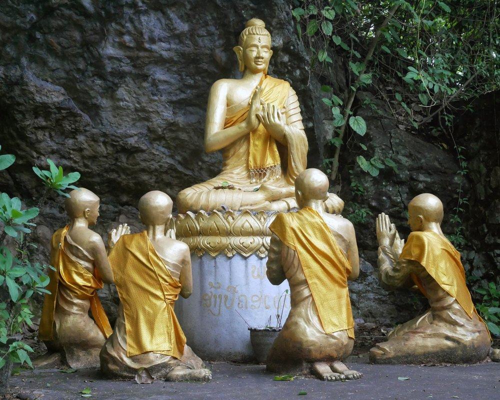 Buddhas at Mount Phousi