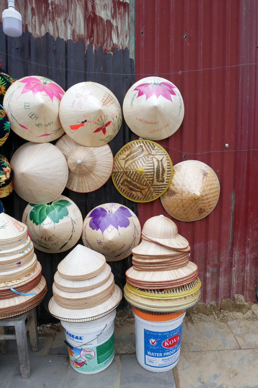 Traditional hats on the road