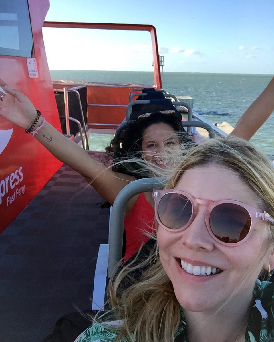Arriving in Holbox with one of my besties