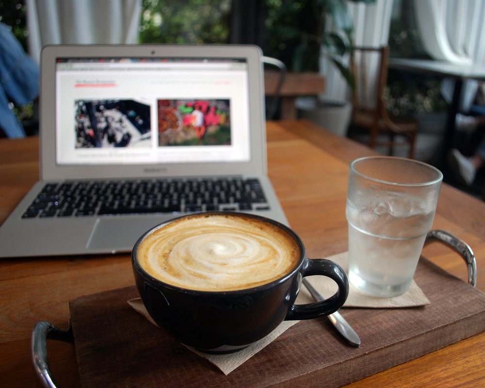 Blogging and coffee. A perfect way to start the day