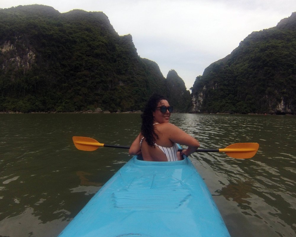Doing my best (and failing) to look Insta-elegant whilst kayaking