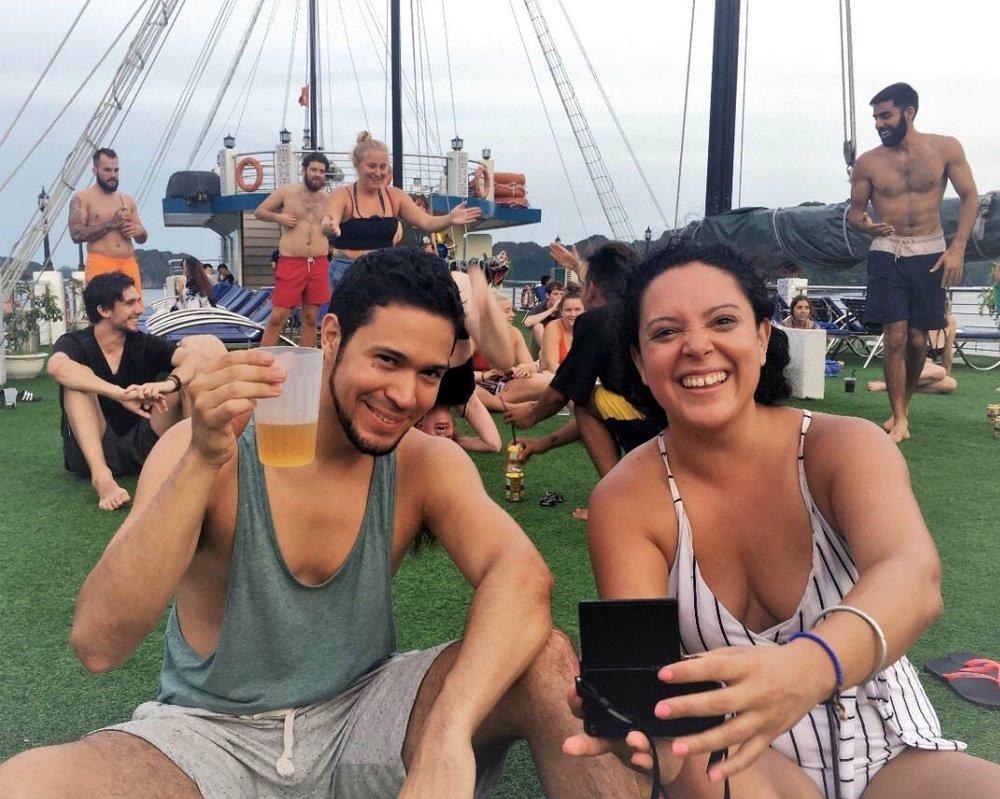Vlogging, drinking and enjoying a bit of yoga