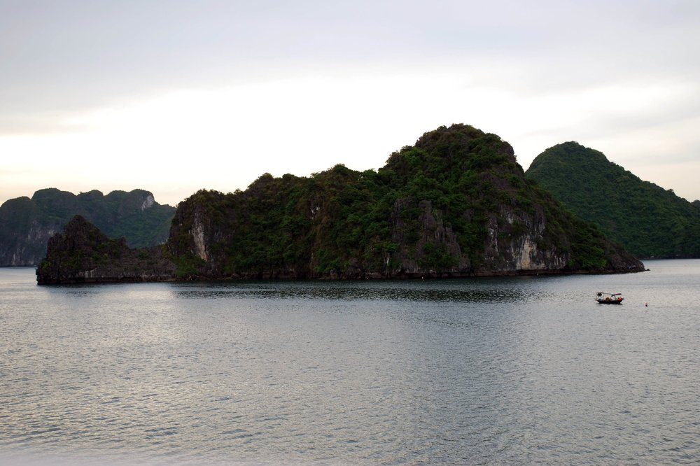 Stunning views right in the heart of Halong Bay