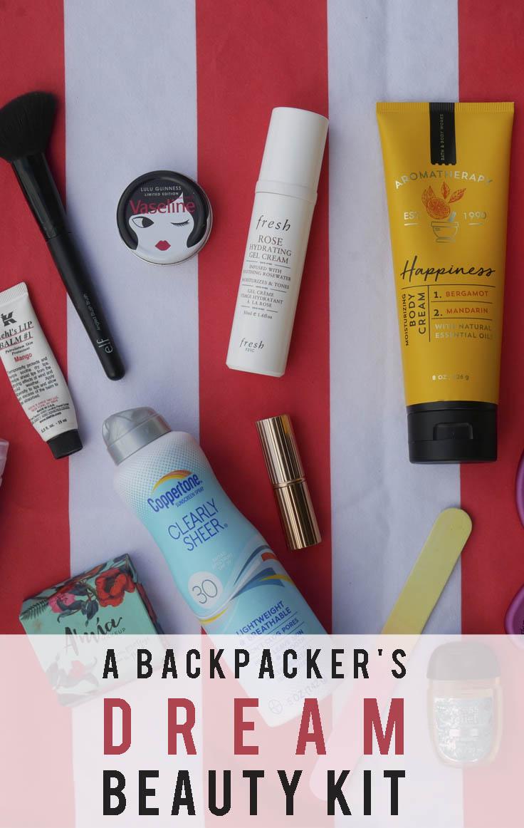 A Backpacker's Dream Beauty Kit