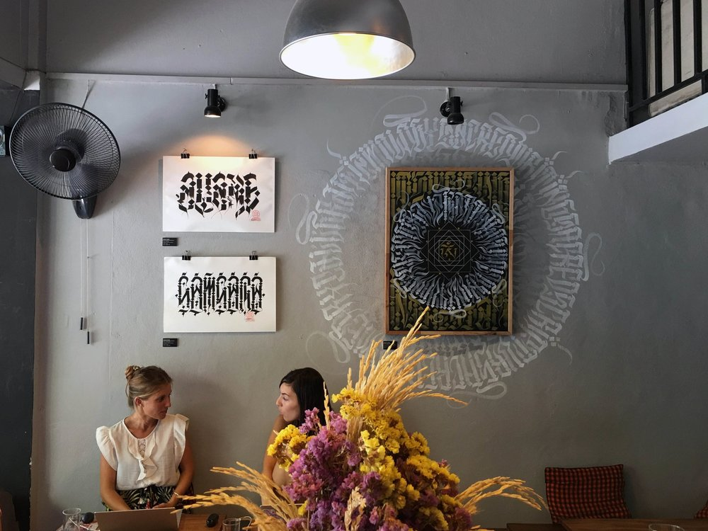 Breakfast at Overstand, one of Chiang Mai's many killer cafes