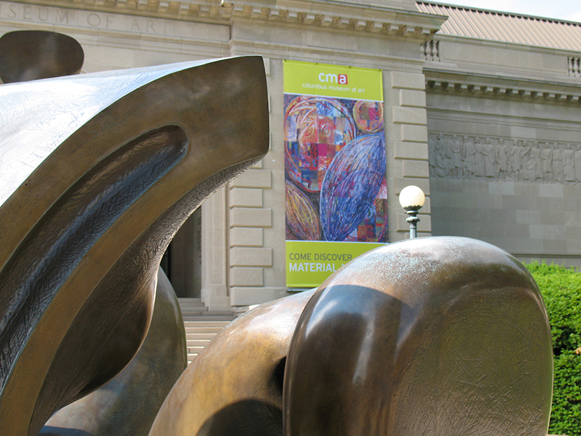 BennerSue_Poster and Moore sculpture at CMA-R.jpg