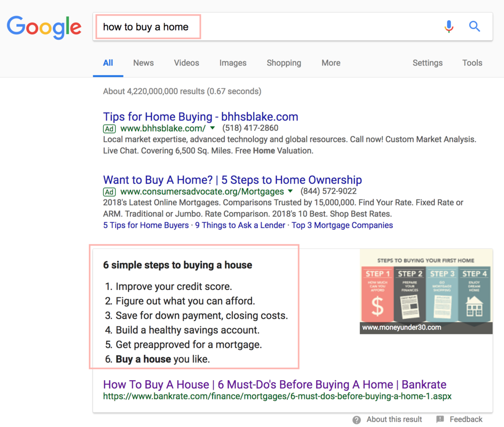 Google search engine results page SERP H2 List .png