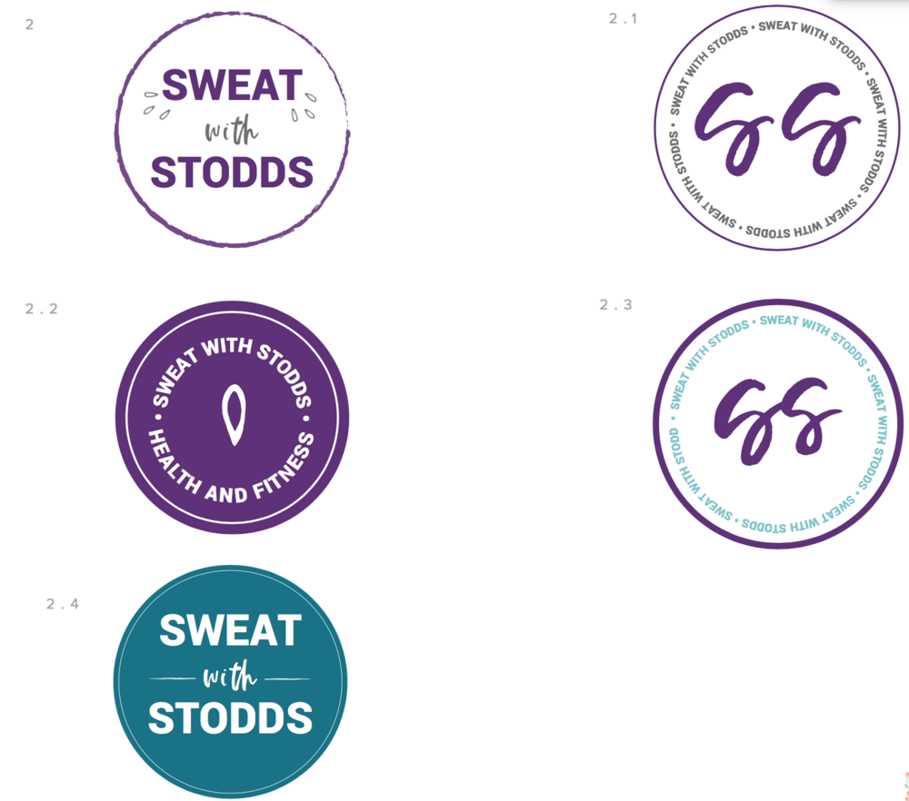 Graphic design and branding for fitness professional