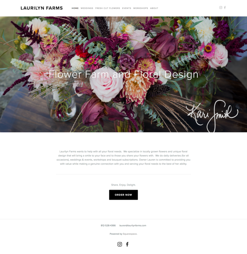 Homepage: Before