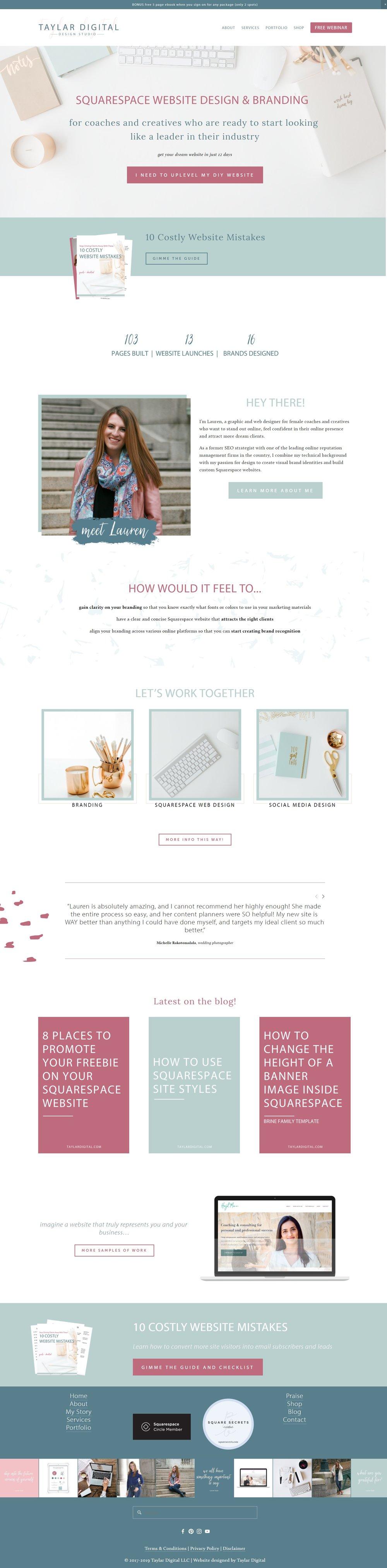 Taylar+Digital+homepage