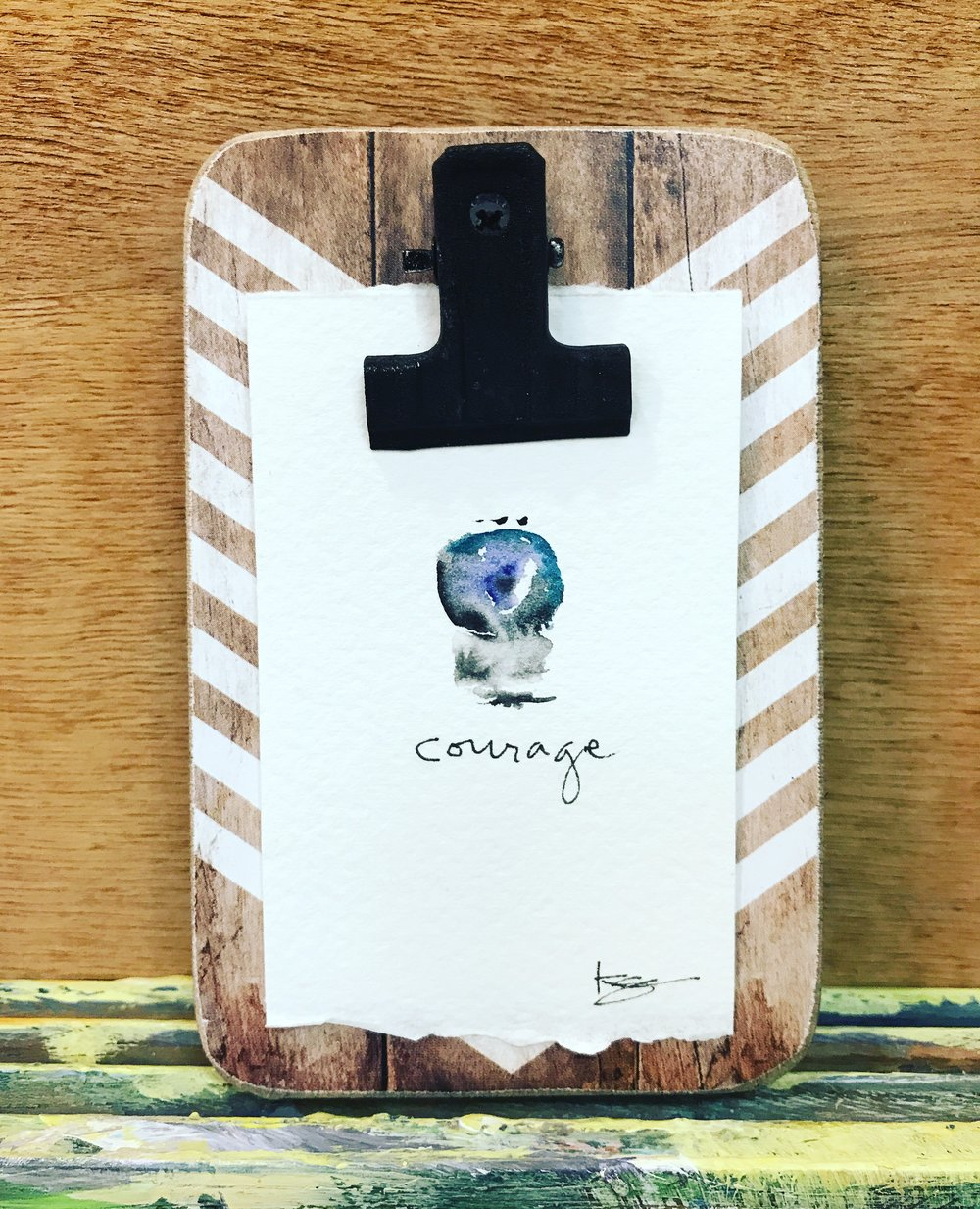 Courage - Mini Meditation Frame