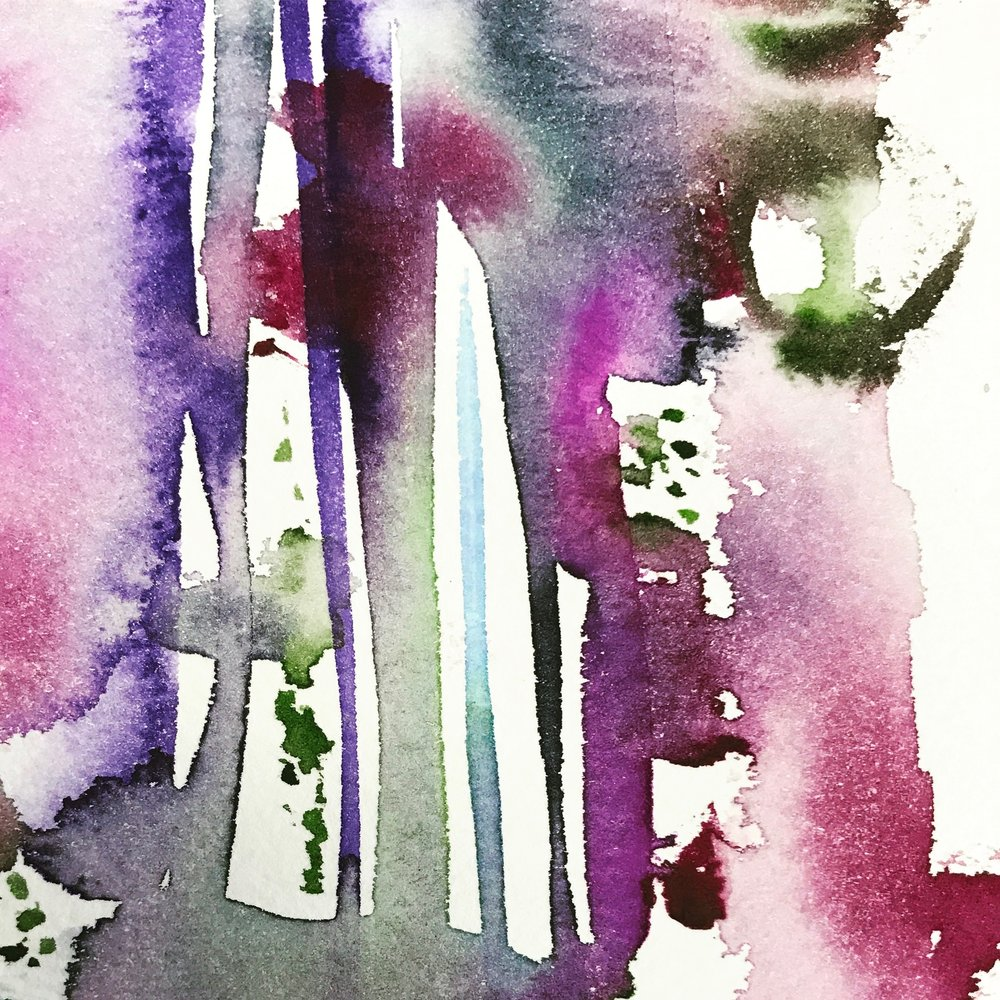 Detail of Violet and Green Study