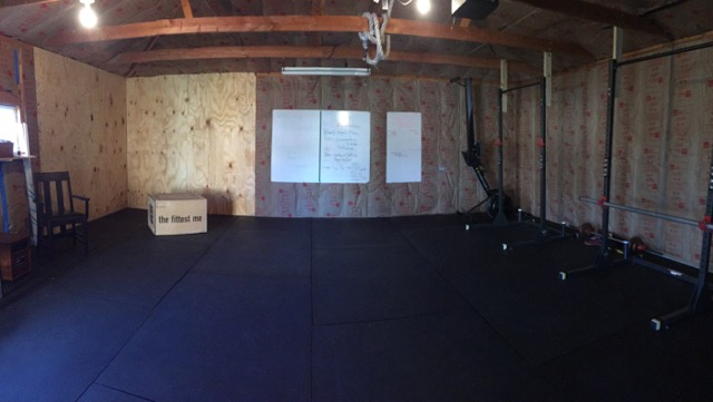 Our Gym - Located in our garage, we provide a non-gym fitness experience