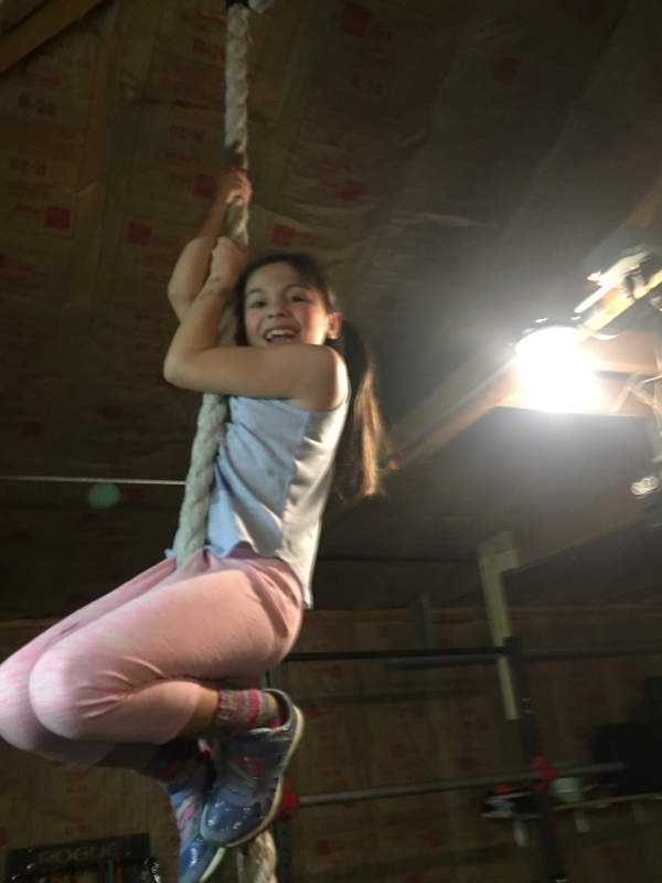 Oh, the celebration when Lucy got her first rope climb!!!
