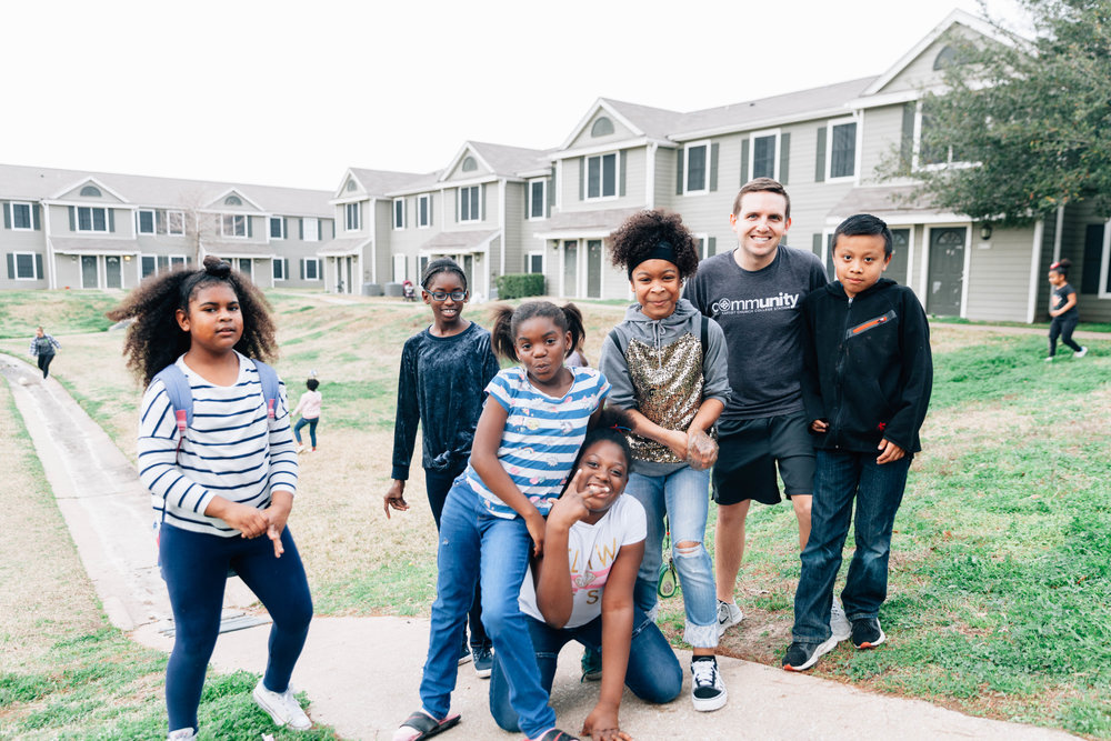 Saddlewood Neighborhood - Each Tuesday, the college ministry heads to Saddlewood Neighborhood to share their love with the kids in the community. We play games, share snacks, and talk about our lives with the children.Will you join us at Saddlewood?