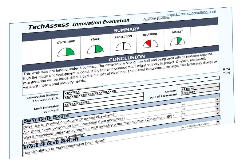 Example TechAssess tool