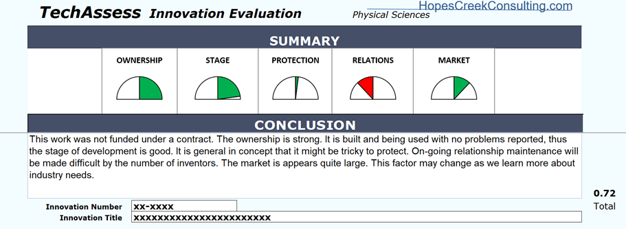 Example TechAssess showing a perfect score for the Ownership category.