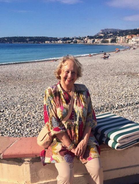 Mamy Colette a la mer