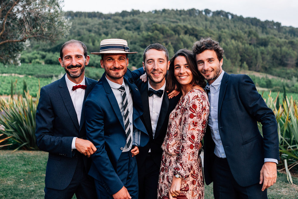 Top to bottom, left to right: Priscille (Interior Designer - ig @priscillecest); Camille (Wedding Dress Designer,  camillemarguet.fr  - ig @camillemarguetcreatrice); Richard and Joelle, my godfather and aunt, and parents of the groom; Jérôme, Morgan, Matthieu the groom, Amélie and Paul. Photos by  Pierre Atelier  @pierreatelier
