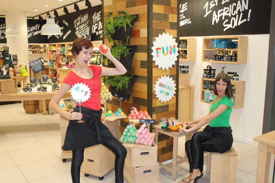 When we launched FUN in SA. It's a soap, shampoo, bubblebath AND play dough in one! PS When we wore our Disco Pants, magic happened on that shop floor!