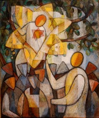 """""""Jesus and Zacchaeus"""" by Soichi Watanabe"""