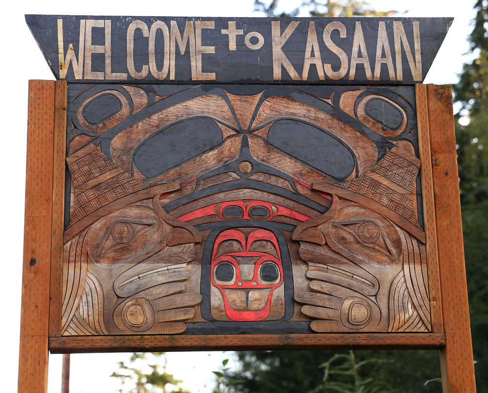 Kasaan Alaska Welcome Sign