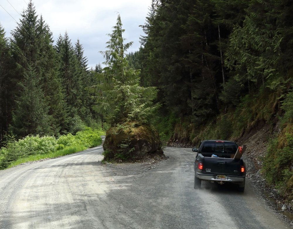 The Rock on the Thorne Bay Kasaan Road in Southeast Alaska