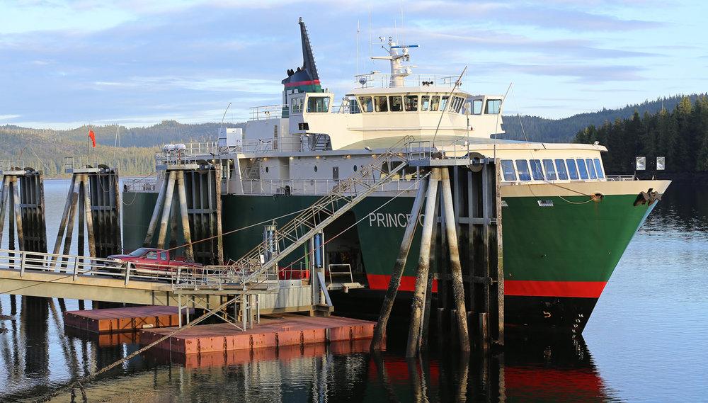 IFA Interisland Ferry Authority ferry runs between Hollis and Ketchikan Alaska