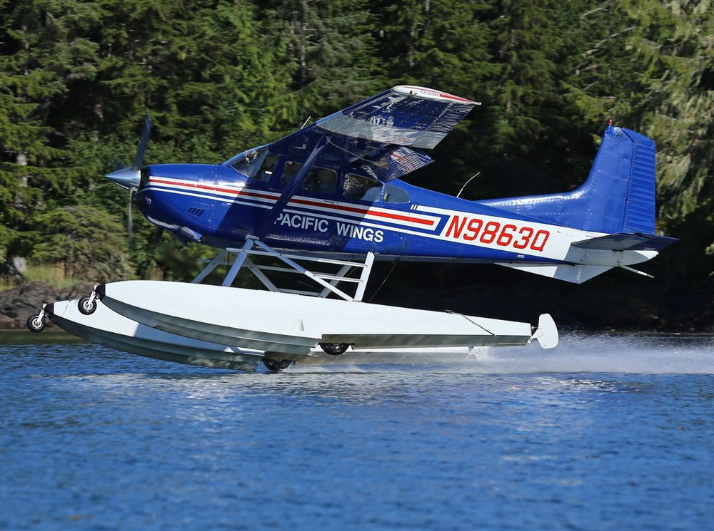 Cessna amphibious airplane Prince of Wales Island Alask