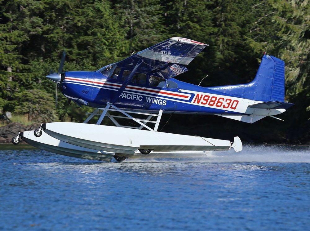 Cessna amphibious airplane Prince of Wales Island Alask