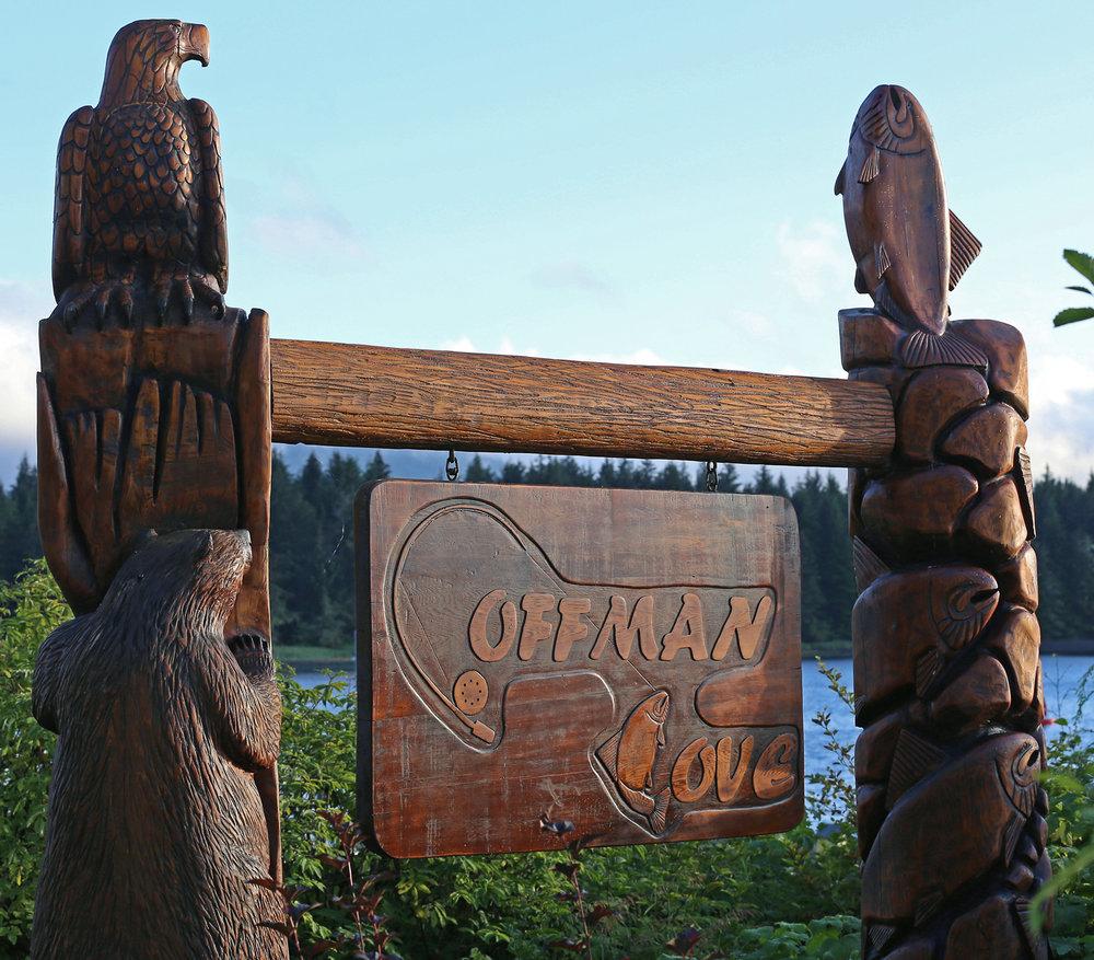 Coffman Cove Alaska Travel Visitors Sign Prince of Wales Island