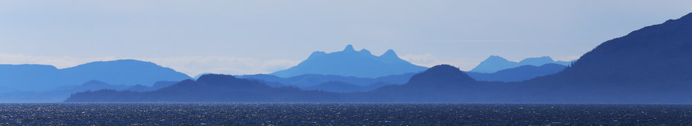 Distant view of Prince of Wales Island in Southeast Alaska